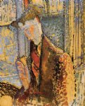 portrait paintings - portrait of frank burty haviland by amedeo modigliani