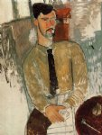 portrait paintings - portrait of henri laurens ii by amedeo modigliani