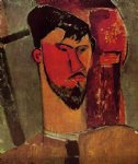 portrait paintings - portrait of henri laurens by amedeo modigliani