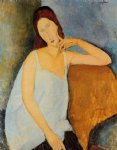 portrait paintings - portrait of jeanne hebuterne by amedeo modigliani