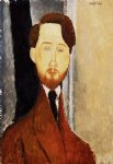 portrait paintings - portrait of leopold zborowski iii by amedeo modigliani