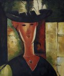 portrait paintings - portrait of madam pompadour 1915 by amedeo modigliani