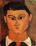 portrait paintings - portrait of moise kisling ii by amedeo modigliani