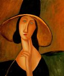 portrait paintings - portrait of woman in hat by amedeo modigliani