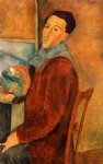 portrait paintings - self portrait by amedeo modigliani