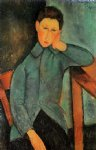 the boy by amedeo modigliani painting