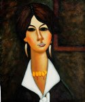 woman of algiers 1917 by amedeo modigliani painting