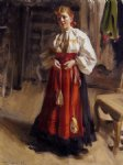 anders zorn girl in an orsa costume painting