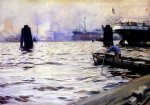 hamburg harbour by anders zorn painting