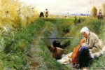 our daily bread by anders zorn painting