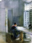 wallpaper factory by anders zorn painting