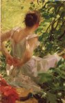 anders zorn woman dressing painting
