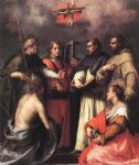 disputation over the trinity by andrea del sarto painting