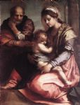 holy family2 by andrea del sarto painting