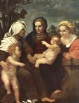 madonna and child with sts catherine by andrea del sarto painting