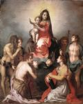 madonna in glory and saints by andrea del sarto painting