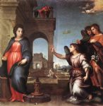 the annunciation by andrea del sarto painting