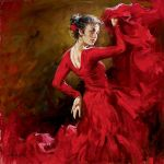 andrew atroshenko crimson dancer painting-78301