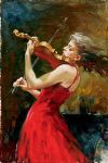 the passion of music by andrew atroshenko painting
