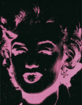 pink marilyn reversal 86 by andy warhol painting