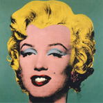 turquoise marilyn 62 by andy warhol painting