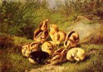 chicks by arthur fitzwilliam tait painting