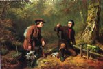 mink trapping in northern new york by arthur fitzwilliam tait painting