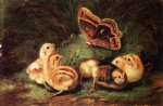 young chickens by arthur fitzwilliam tait painting