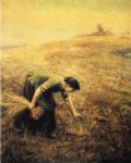 gleaning by arthur hughes painting