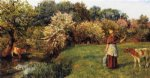 poll the milkmaid by arthur hughes painting