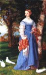 portrait paintings - portrait of mrs. louisa jenner by arthur hughes