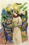 august macke afternoon in the garden paintings