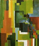 august macke colored forms ii painting