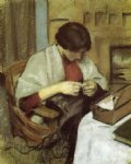 august macke elizabeth gerhardt sewing painting
