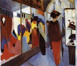 august macke fashion shop painting