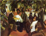 august macke garden restaurant paintings