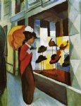 august macke hat shop painting