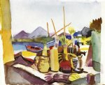 august macke landscape near hammamet painting