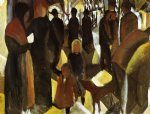 august macke leave painting