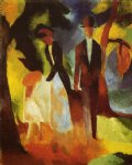 august macke people by the lake painting