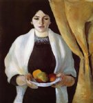 august macke portrait with apples the artists wife painting