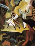 august macke russian ballet i painting