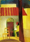 august macke turkish cafe i painting
