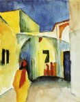 view of an alley by august macke painting