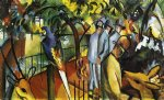 zoological garden i by august macke painting