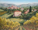 a vineyard view by barbara felisky painting