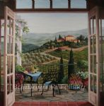 barbara felisky balcony view of the villa poster