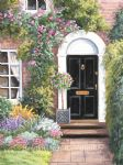 barbara felisky formal black door painting