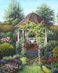 barbara felisky gazebo among the roses painting 79101