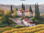 barbara felisky vineyard in autumn tuscany posters